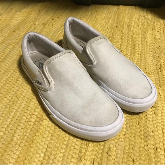 Vans Shoes | Vans Slip Ons White 75